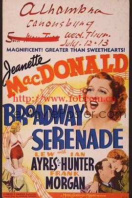 百老汇小夜曲 Broadway Serenade (1939)
