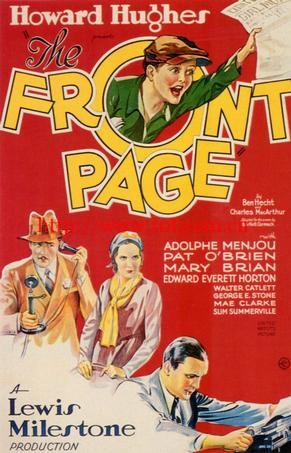 犯罪的都市 The Front Page (1931)