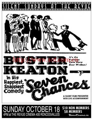 七次机会 Seven Chances (1925)